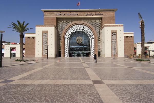 bahnhof marrakesch marokko nordafrika afrika