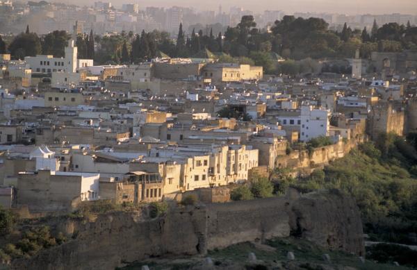 ergehauener blick auf die medina oder