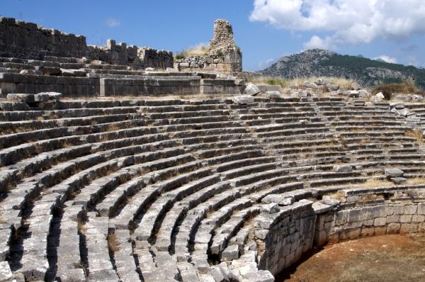 das amphitheater auf der lykischen staette