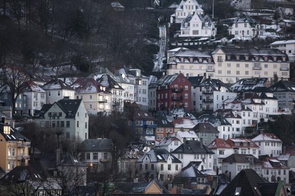 traditionelle bauten bergen norwegen skandinavien europa