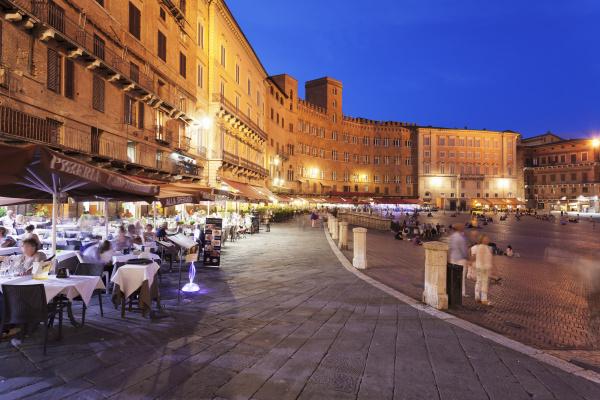restaurants auf der piazza del campo