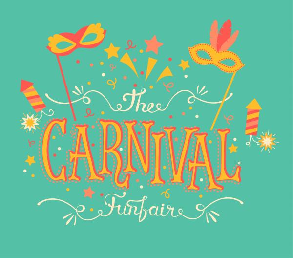 karneval kirmes und feuerwerk