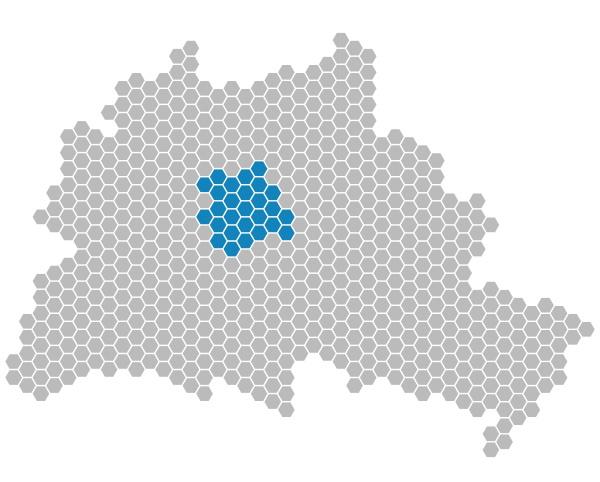 karte, berlin, , , bezirk, mitte - 19139875