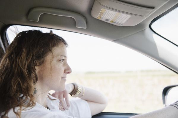 frau profil frauen fahrt reisen weiblich