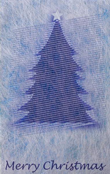 abstrakter weihnachtsbaum und schriftzug merry christmas