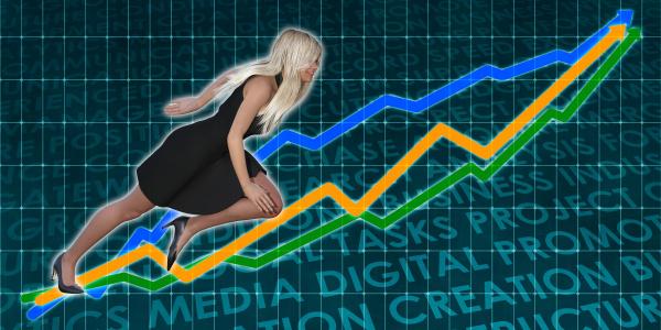 racing zum erfolg business executive woman