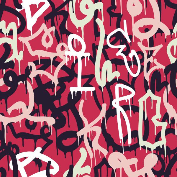 graffiti abstraktes muster