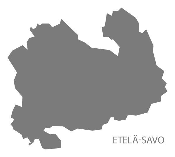 etela savo finnland karte grau