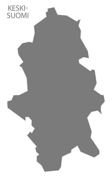 keski suomi finnland karte grau