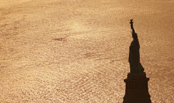 usa new york city blick von