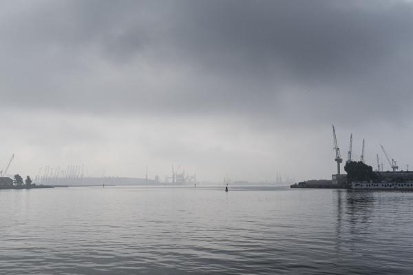 industrie verkehr verkehrswesen wolke nebel wasser