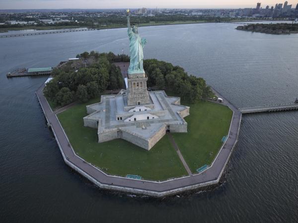 usa new york city luftaufnahme der