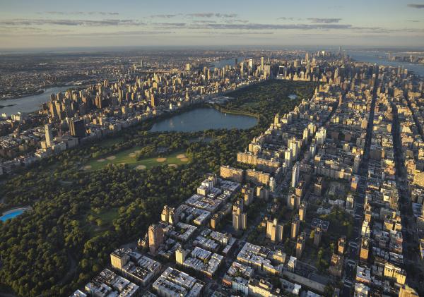 usa new york city luftaufnahme des
