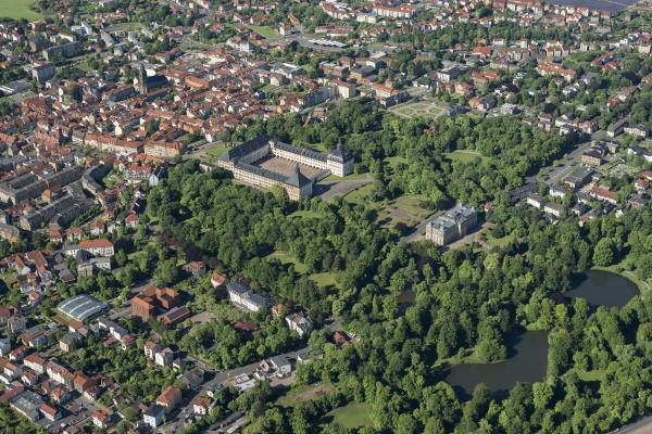 deutschland gotha luftbild von schloss friedenstein