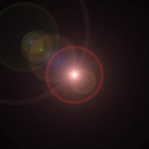 lens flare red orbit
