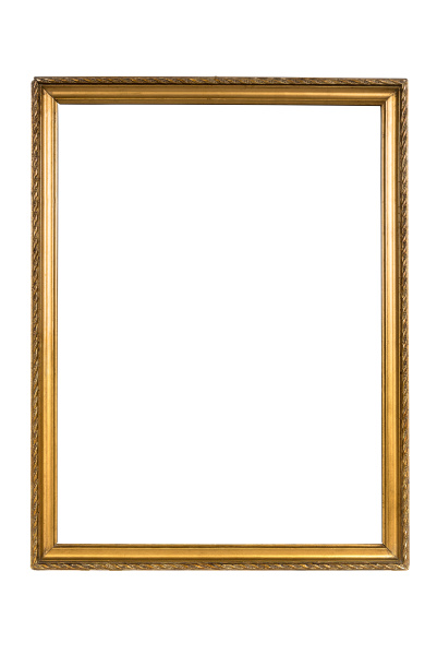 dekorativer goldener bilderrahmen lokalisiert auf weiss
