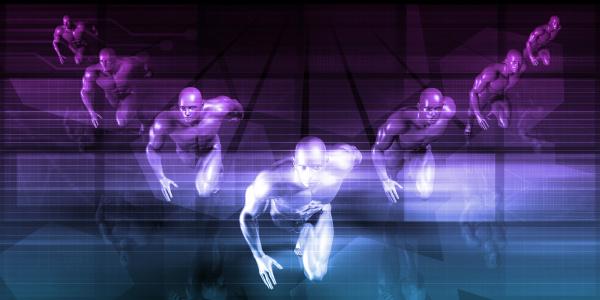 futuristisches rennen