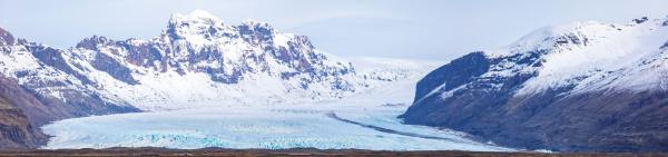 skaftafell gletscher island panorama