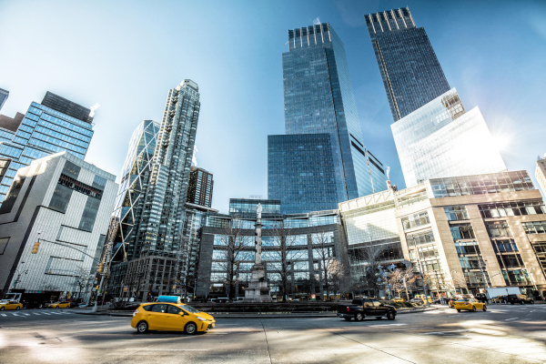 usa new york city verkehr auf
