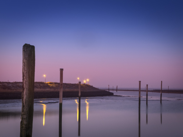 evening atmosphere at the marina of