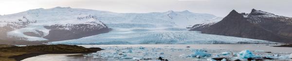 fjallsarlon gletscherlagune island panorama