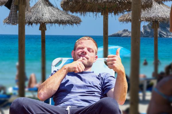strandleben bild mit gewuenschte unschaerfe focus