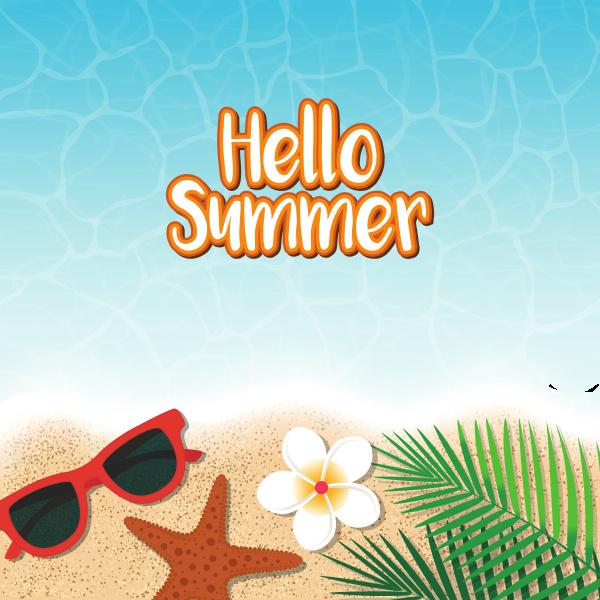 hallo sommer urlaub hintergrund draufsicht auf