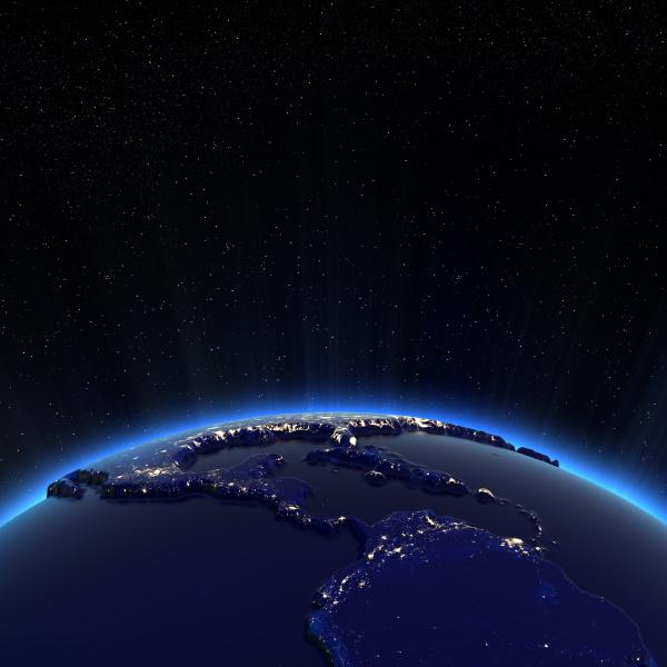 mittelamerika und die usa stadtbeleuchtung in