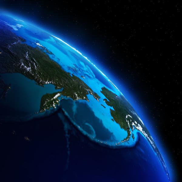 planet erde 3d rendering