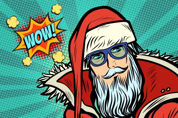 wow hipster weihnachtsmann
