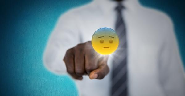 business mann mittleren abschnitt beruehren emojis