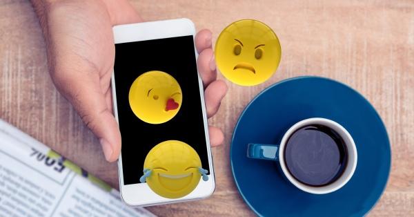digital generiertes bild von emojis die