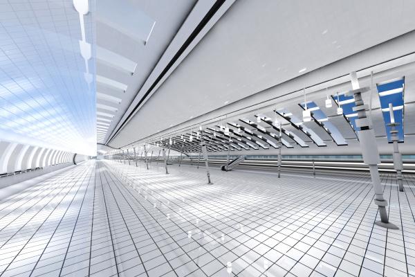 3d darstellung architekturvisualisierung eines futuristischen interieurs