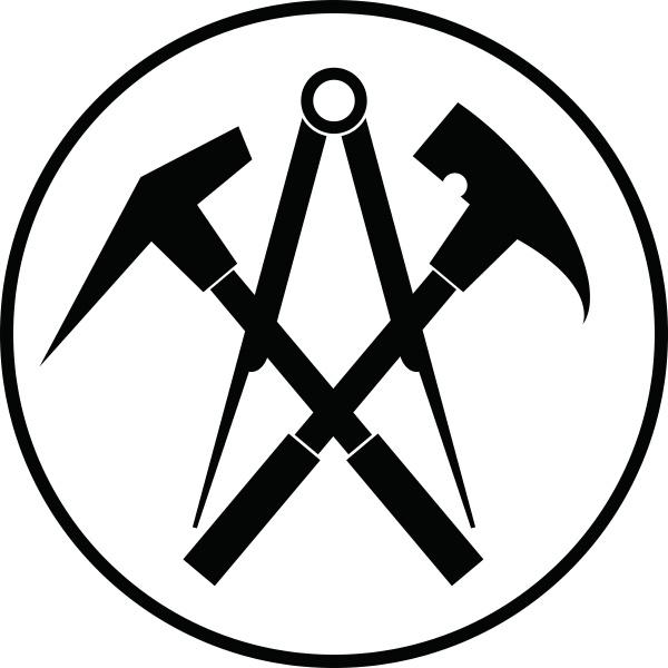 aufkleber werkzeuge dachdecker logo