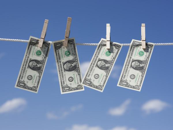 dollar auf waescheleine