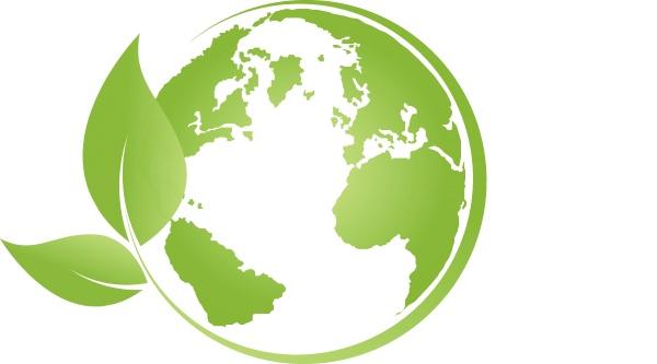 erde, in, grün, , erdball, , blätter, , Ökologie, - 24187986