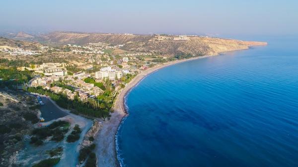 aerial pissouri bay limassol zypern