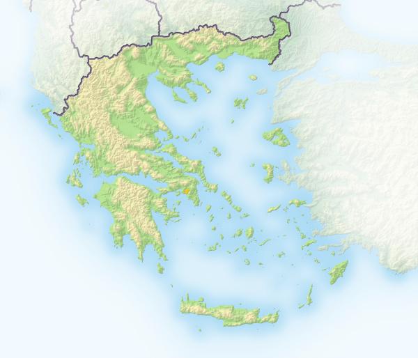 griechenland schattierte reliefkarte europa