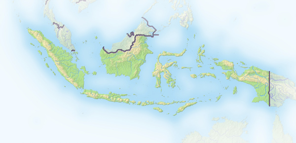 indonesien schattierte reliefkarte