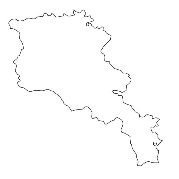umriss karte von armenien