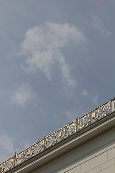 detail vom dach jenisch haus