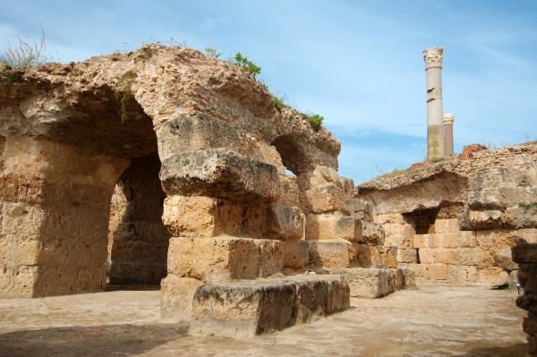 die antike stadt karthago tunesien