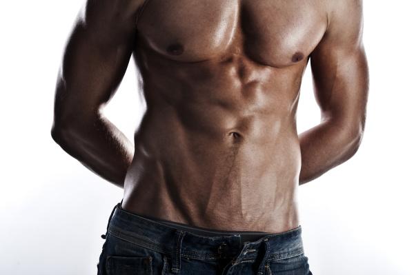 nackter oberkorper eines muskulosen mannes