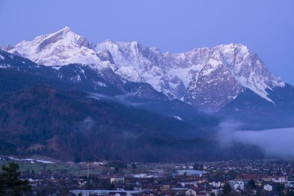 view to garmisch partenkirchen in the
