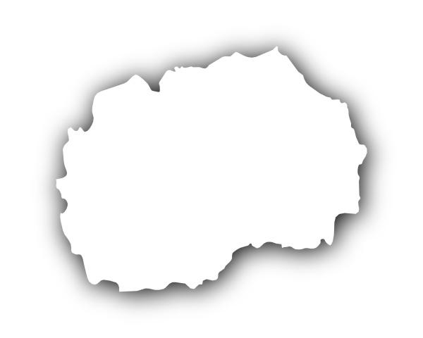 karte von mazedonien mit schatten