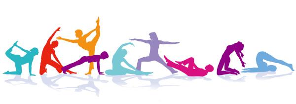 gymnastik figuren sport illustration