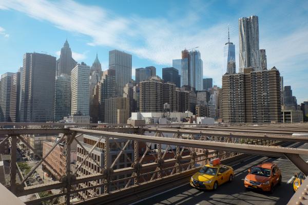 usa new york city skyline mit