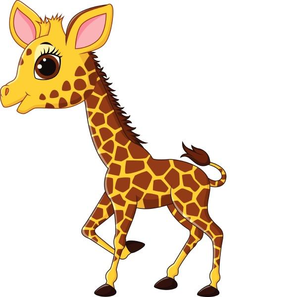 entzueckender giraffen charakter isoliert auf weissem
