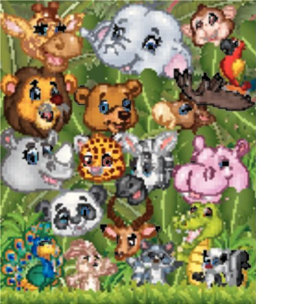 cartoon safari tiere mit wald hintergrund
