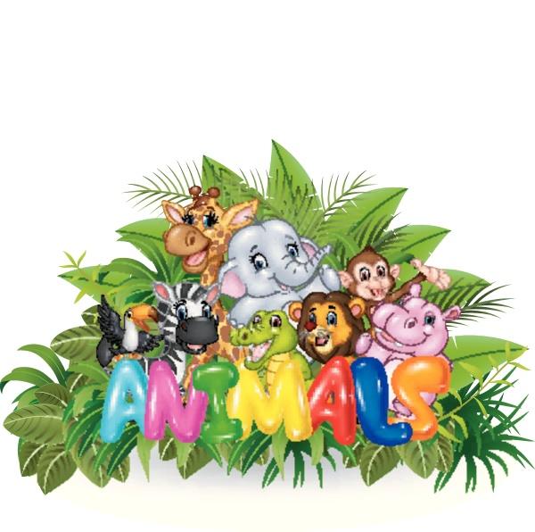 illustration des worttieres mit wildem tier